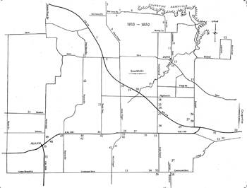 Map of Southlake Businesses 1915-1950