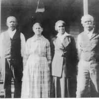 "Bob (far right) and Almeada ""Meady"" Jones (second from left) with unidentified friends, circa 1920s. Courtesy of Jones family"
