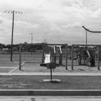 Pictured in this early 1990s photo is a playground that was located next to the Community Center in Bicentennial Park until the completion of Adventure Alley in the late 1990s. Courtesy of City of Southlake